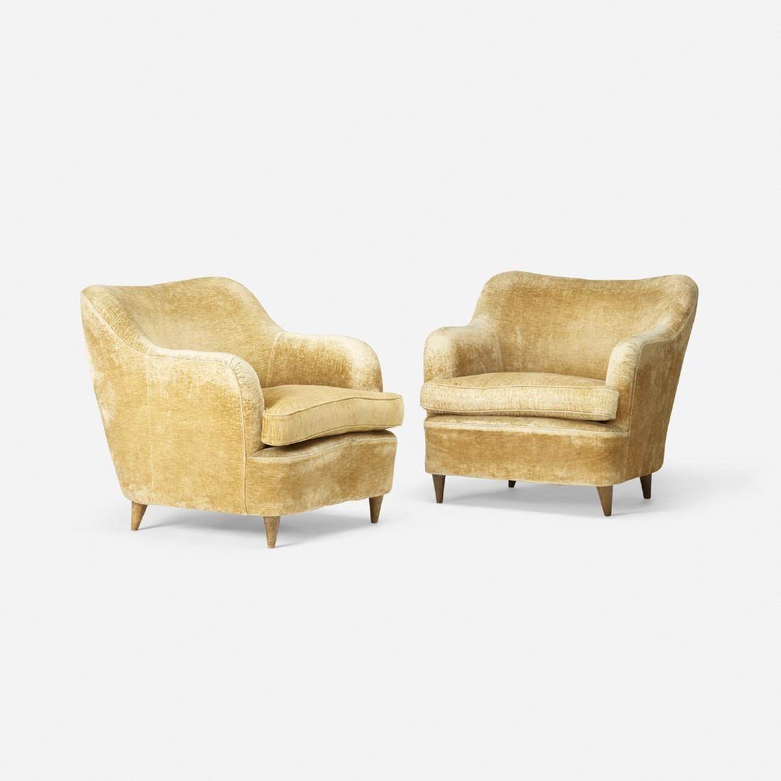 Gio Ponti, lounge chairs, the Hotel Bristol, Merano
