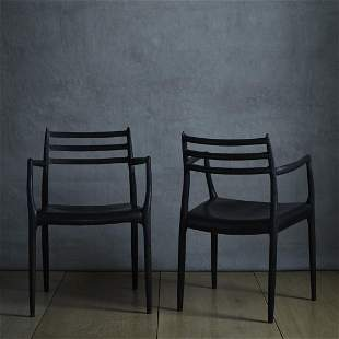 Niels O Moller dining chairs pair