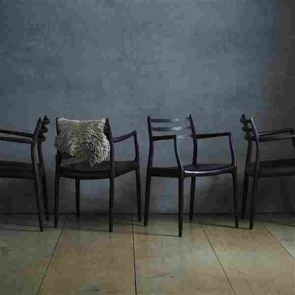 Niels O. Moller, dining chairs, set of four