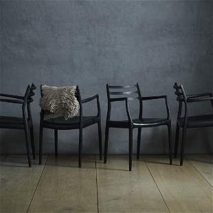 Niels O Moller dining chairs set of four