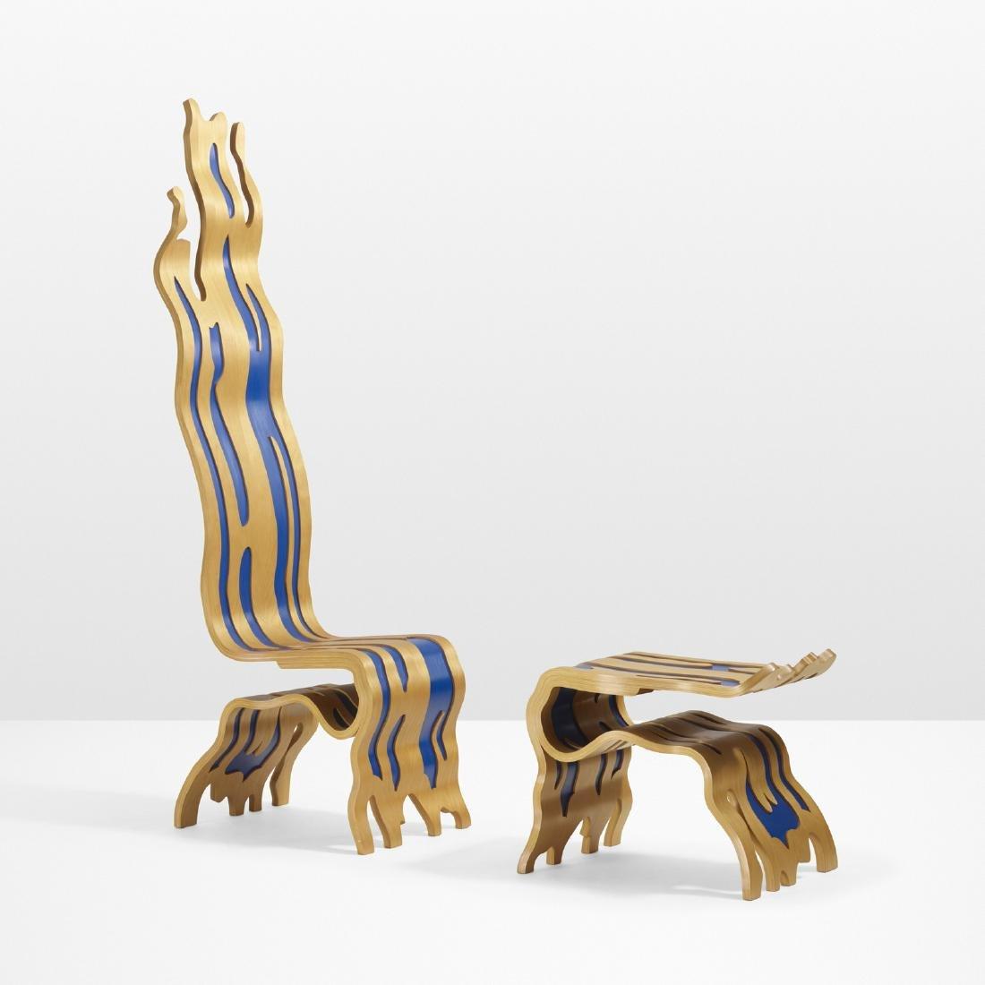Roy Lichtenstein, Brushstroke Chair and Ottoman