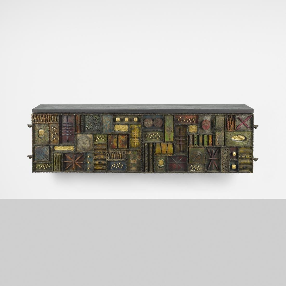 Paul Evans, Important Wall-mounted Sculpted Cabinet