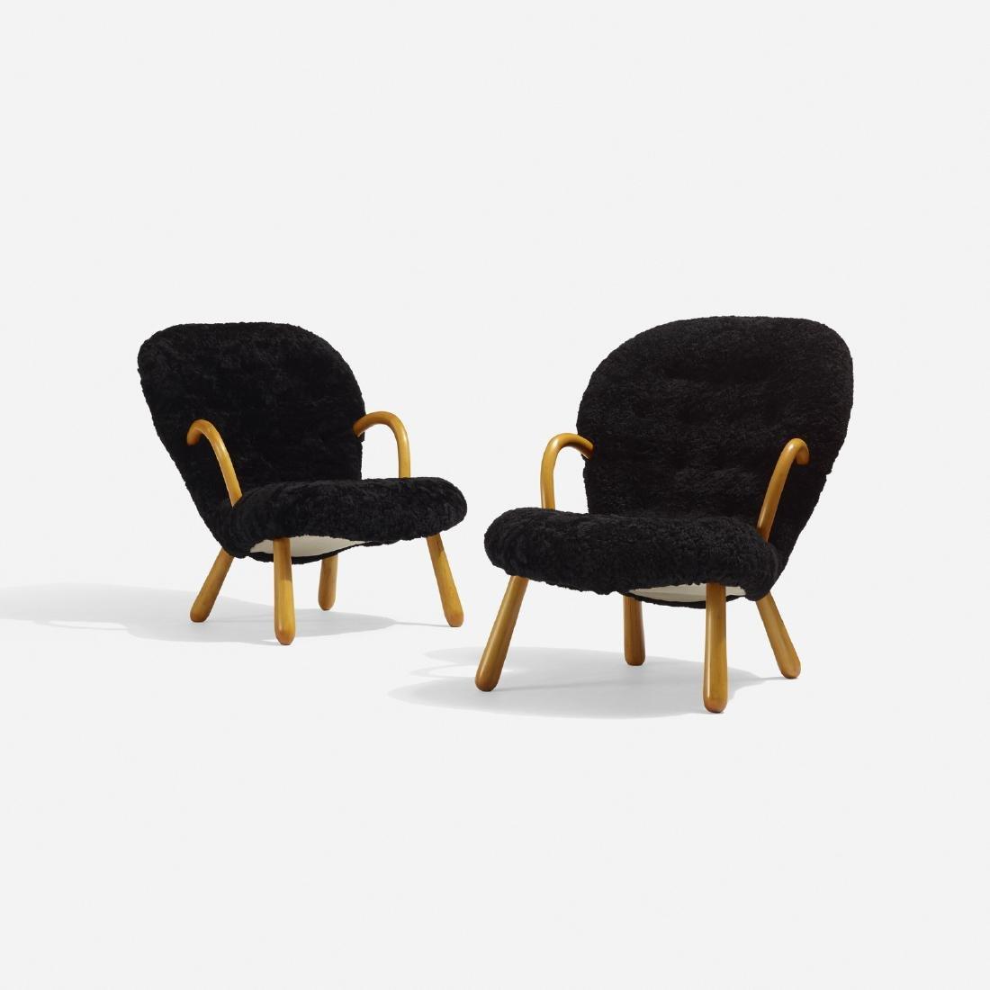 Philip Arctander, lounge chairs, pair