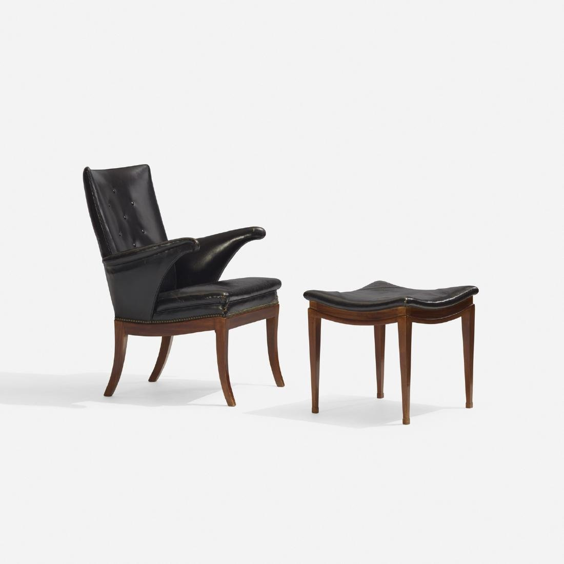 Frits Henningsen, lounge chair and ottoman