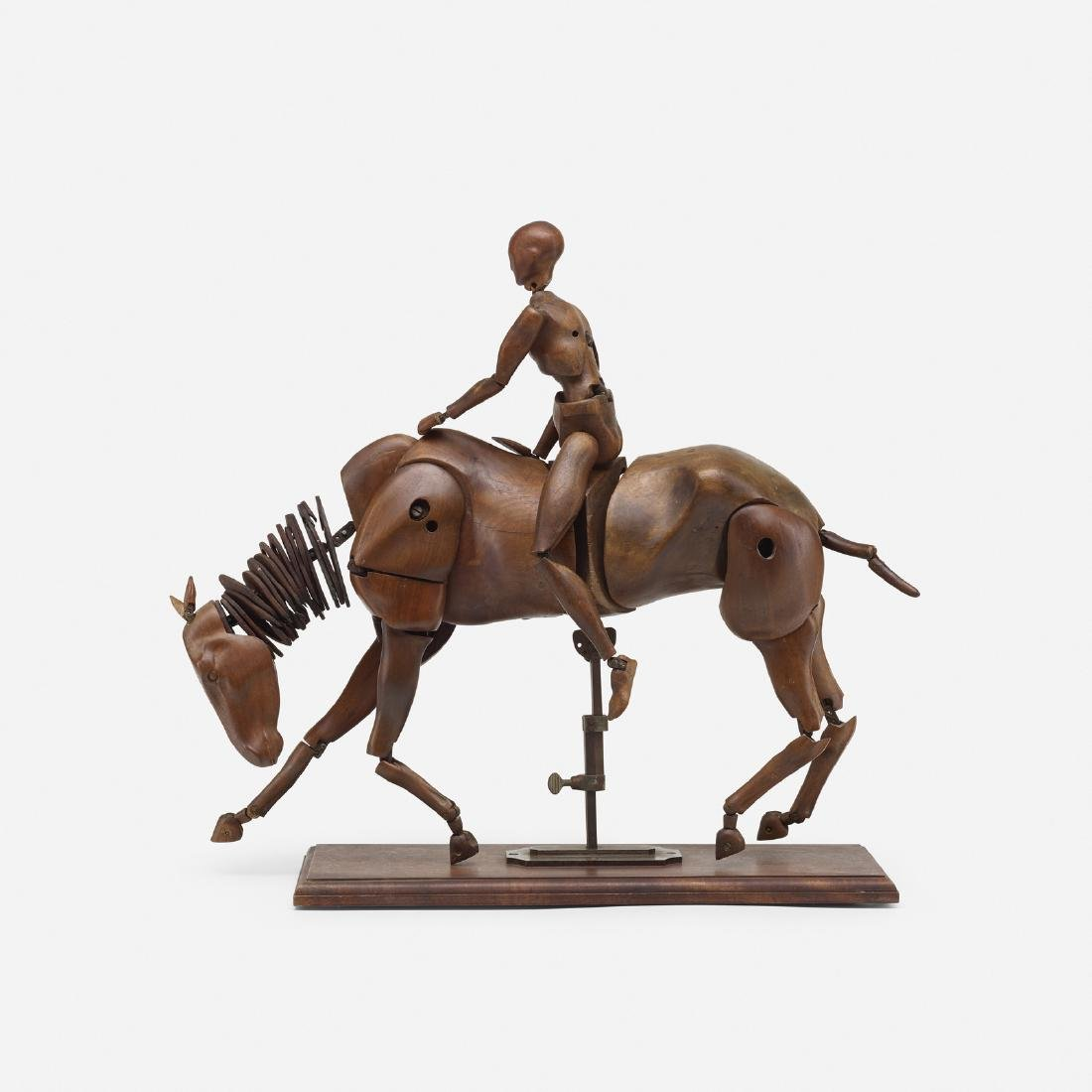 French, rare articulated horse, rider artist's models - 2