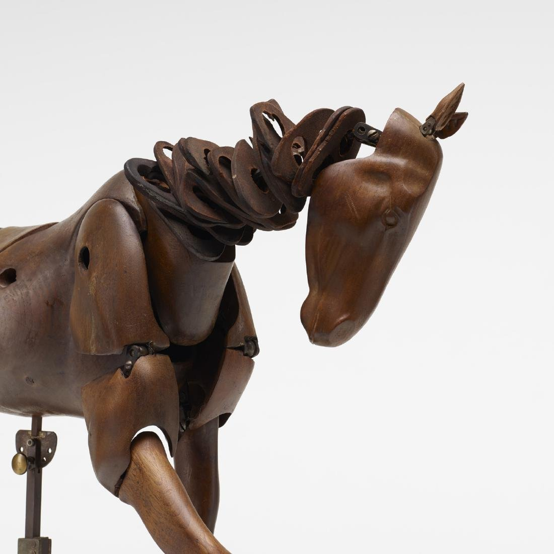 French, rare articulated horse, rider artist's models - 3
