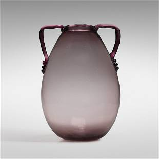 Vittorio Zecchin, Monumental Amethyst Soffiato vase