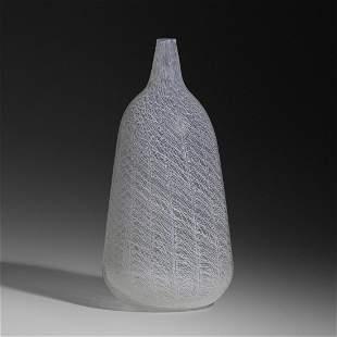 Archimede Seguso, Monumental Merletto vase, model 6833