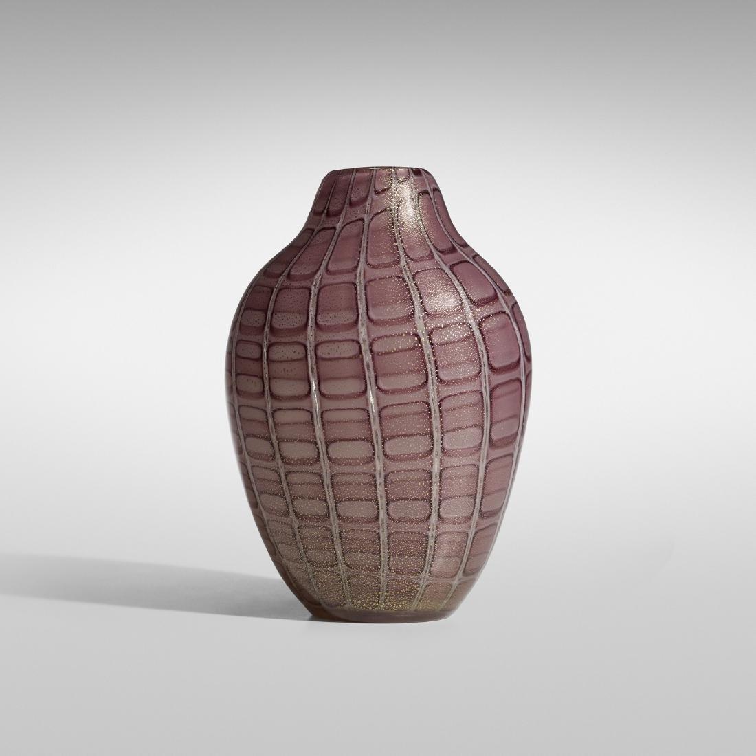 Archimede Seguso, A Losanghe vase, model 5850