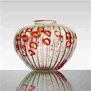 Archimede Seguso, Rare Ad Anelli vase
