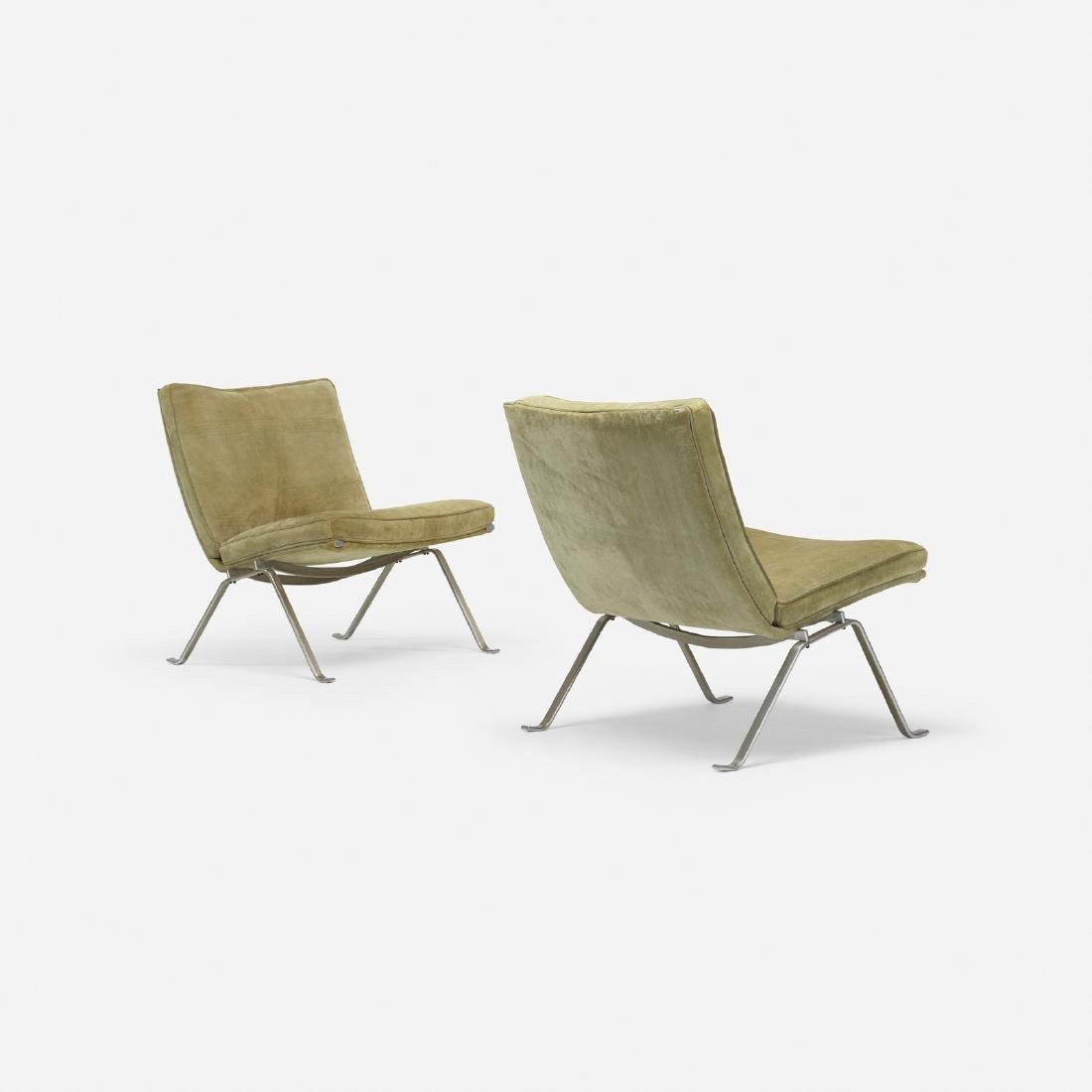 Poul Kjaerholm, PK 22 lounge chairs, pair