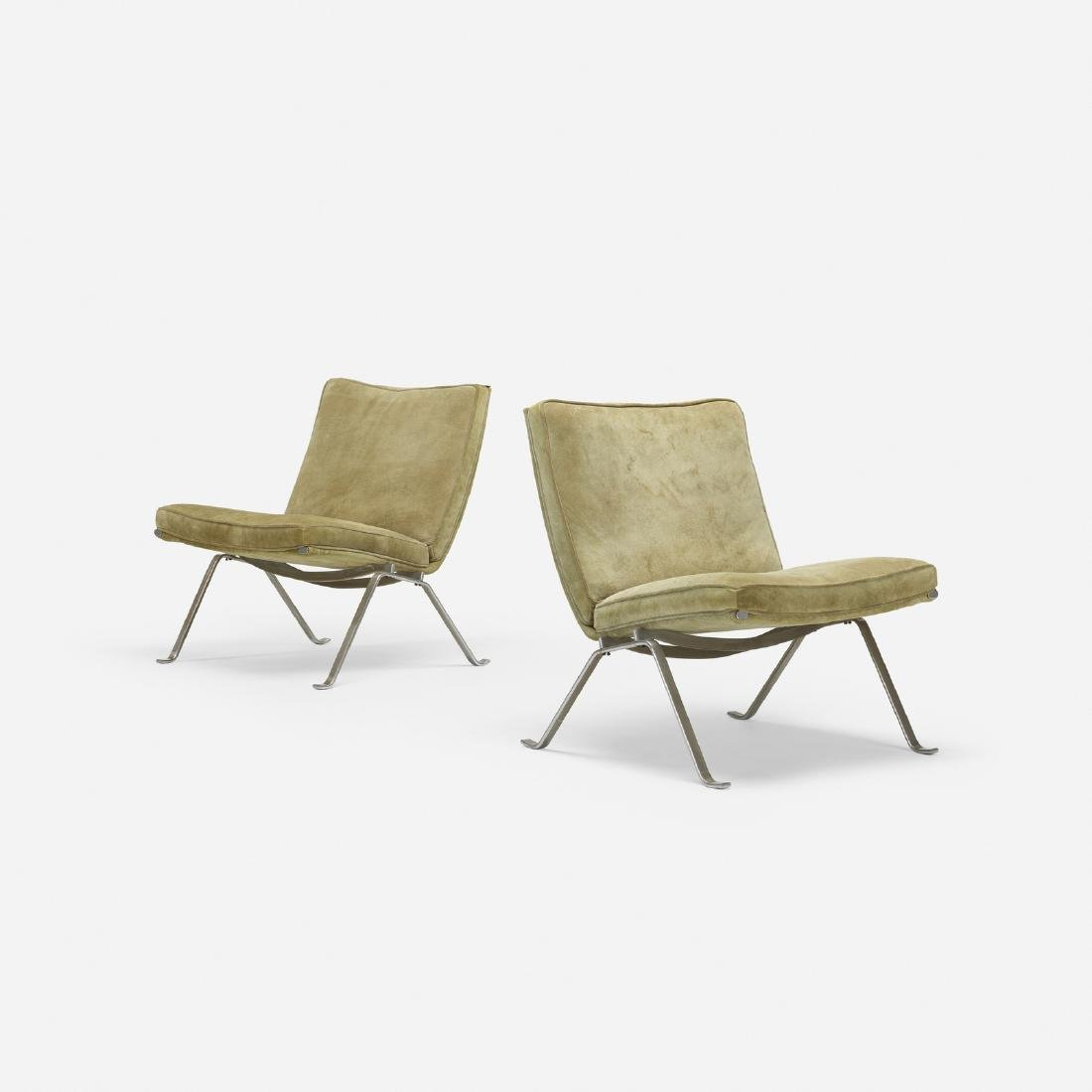 Poul Kjaerholm, PK 22 lounge chairs, pair - 2