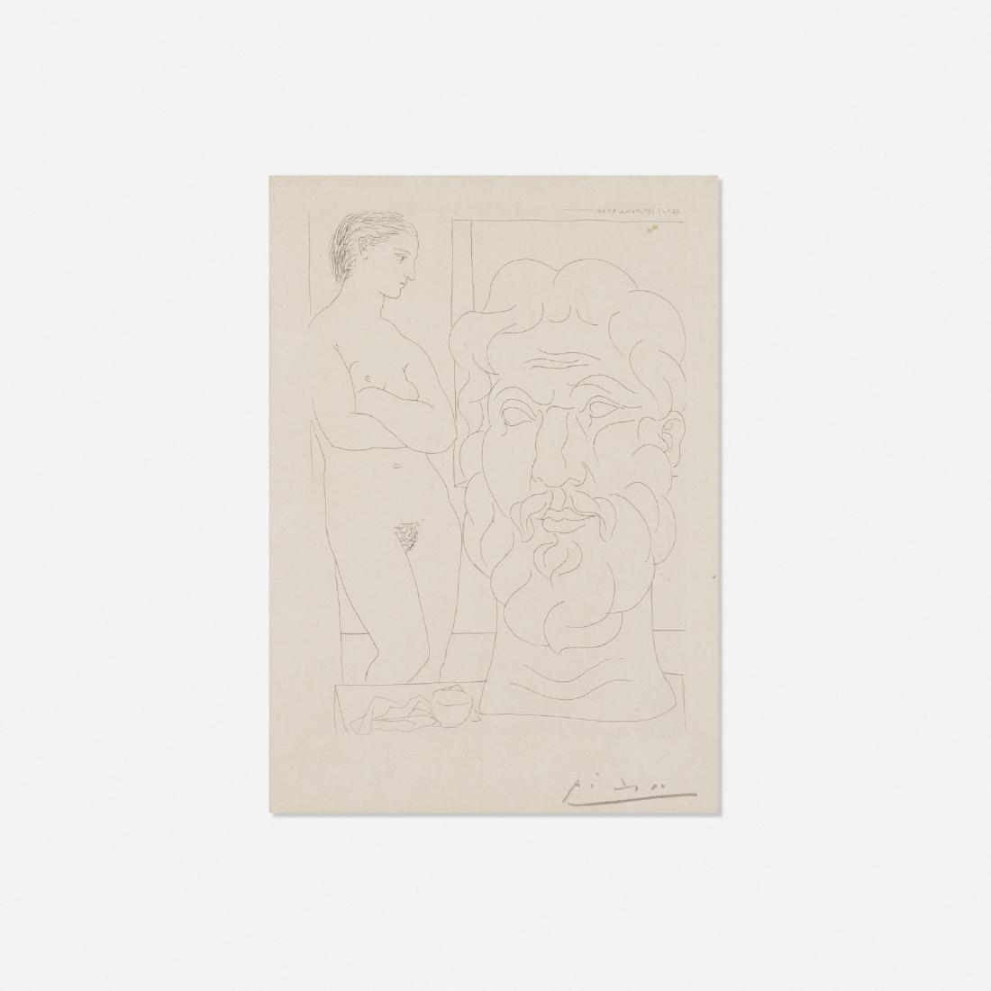 Pablo Picasso, Modele et Grande Tete sculptee