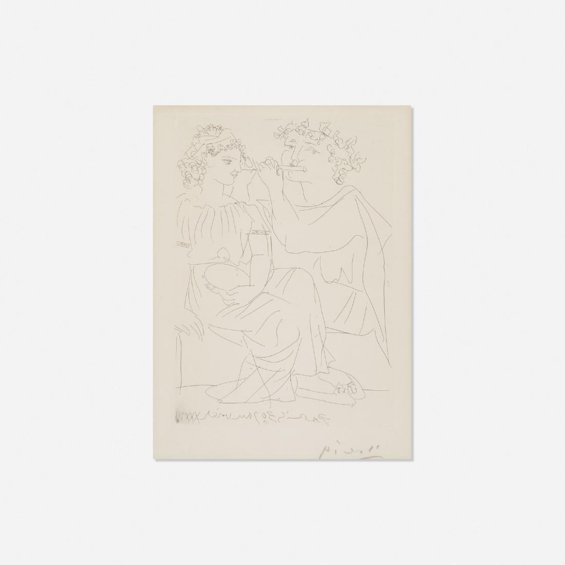 Pablo Picasso, Flutiste et Jeune Fille au Tambourin