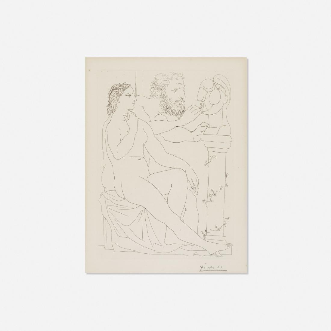 Pablo Picasso, Sculpteur, Modele et Buste sculpte