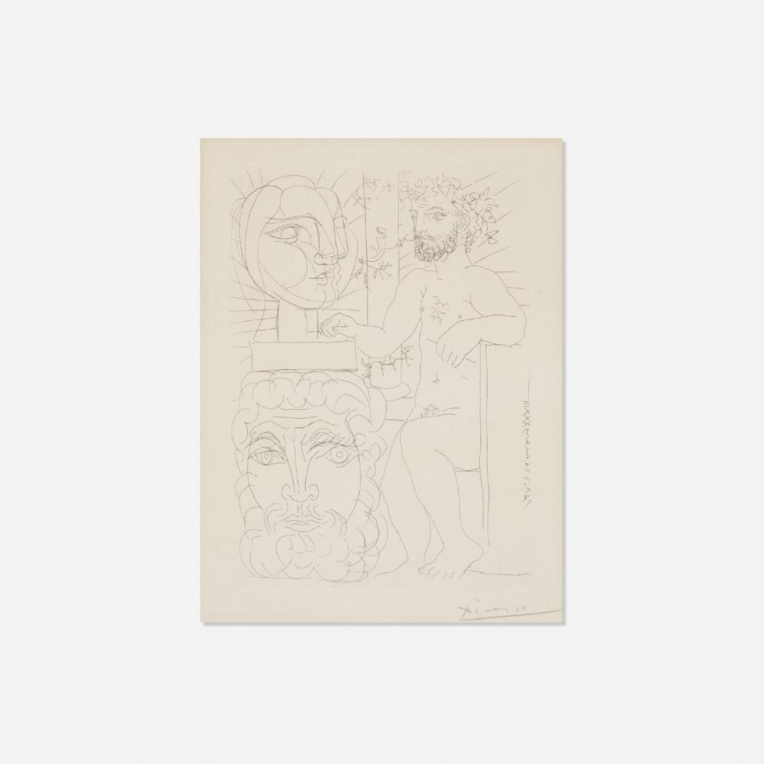 Pablo Picasso, Sculpteur et Deux Tetes sculptees