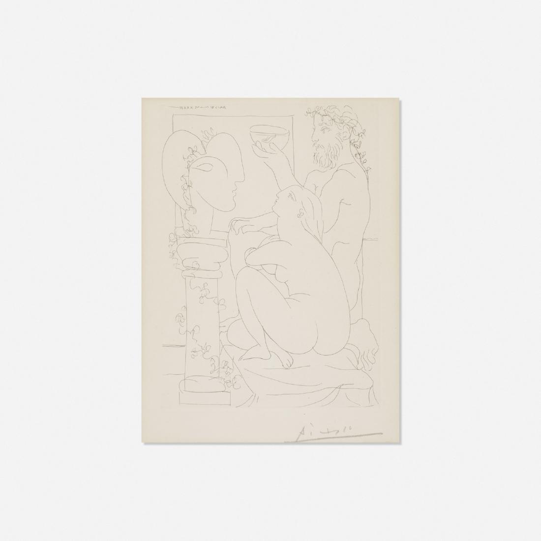 Pablo Picasso, Sculpteur avec Coupe et Modee accroupi