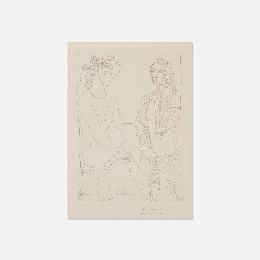 Pablo Picasso, Femme assise au Chapeau et Femme