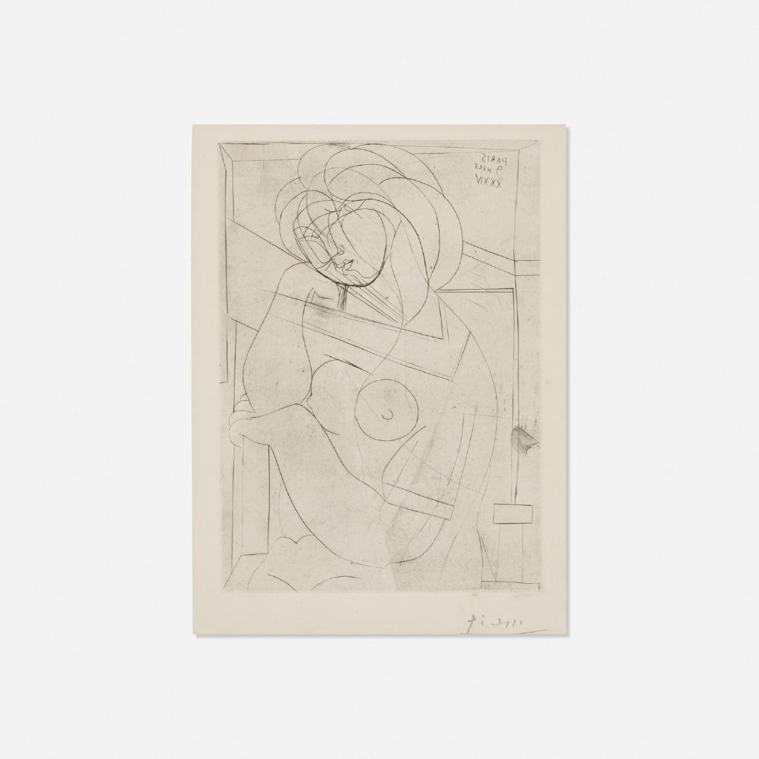 Pablo Picasso, Femme nue assise, la Tete appuyee