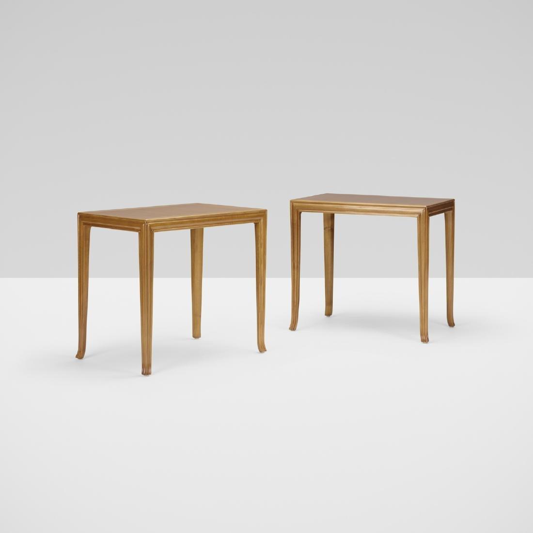 T.H. Robsjohn-Gibbings, Custom occasional tables, pair
