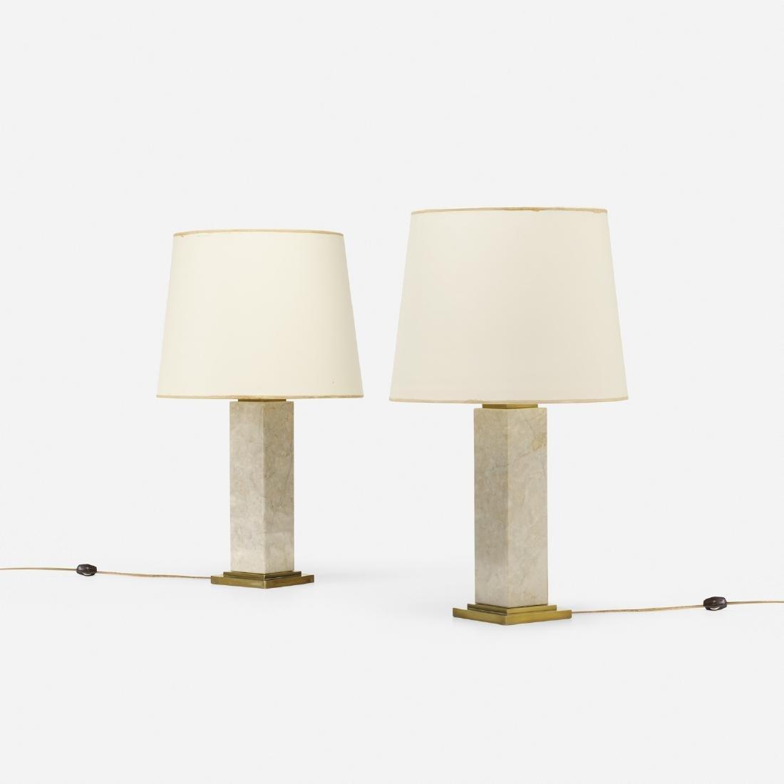 T.H. Robsjohn-Gibbings, table lamps model no. 303, pair