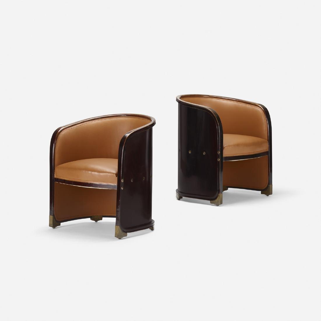 Josef Hoffmann, armchairs model no. 720, pair