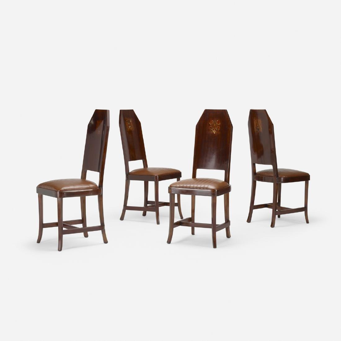 Jugendstil, chairs, set of four