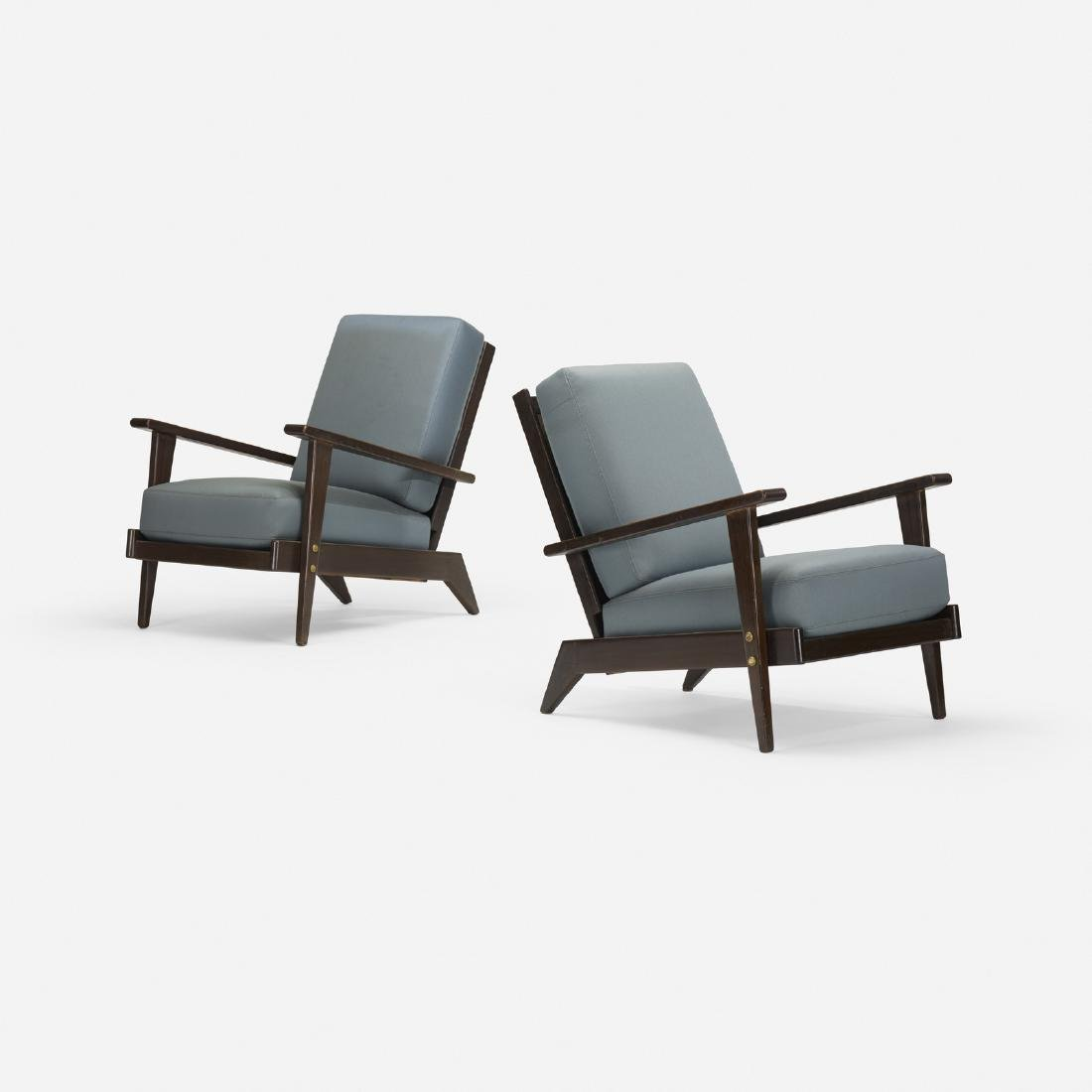 Rene Gabriel, lounge chairs, pair