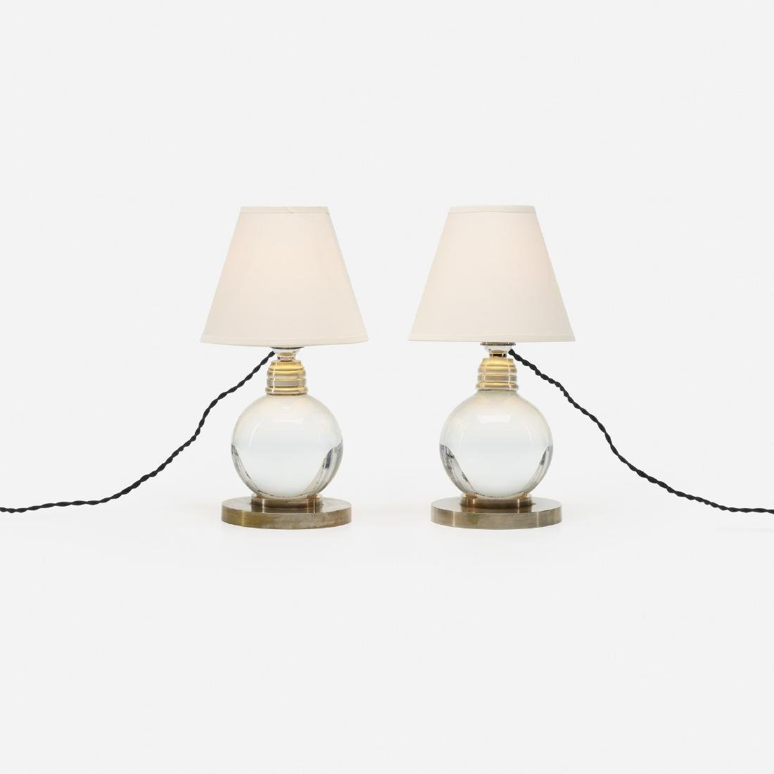 Jacques Adnet, table lamps model 7706, pair