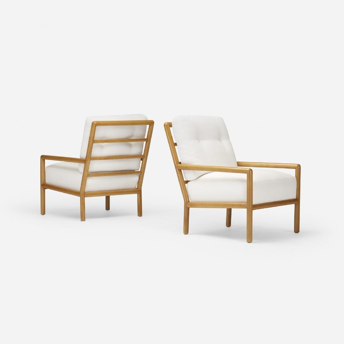 T.H. Robsjohn-Gibbings, lounge chairs, pair