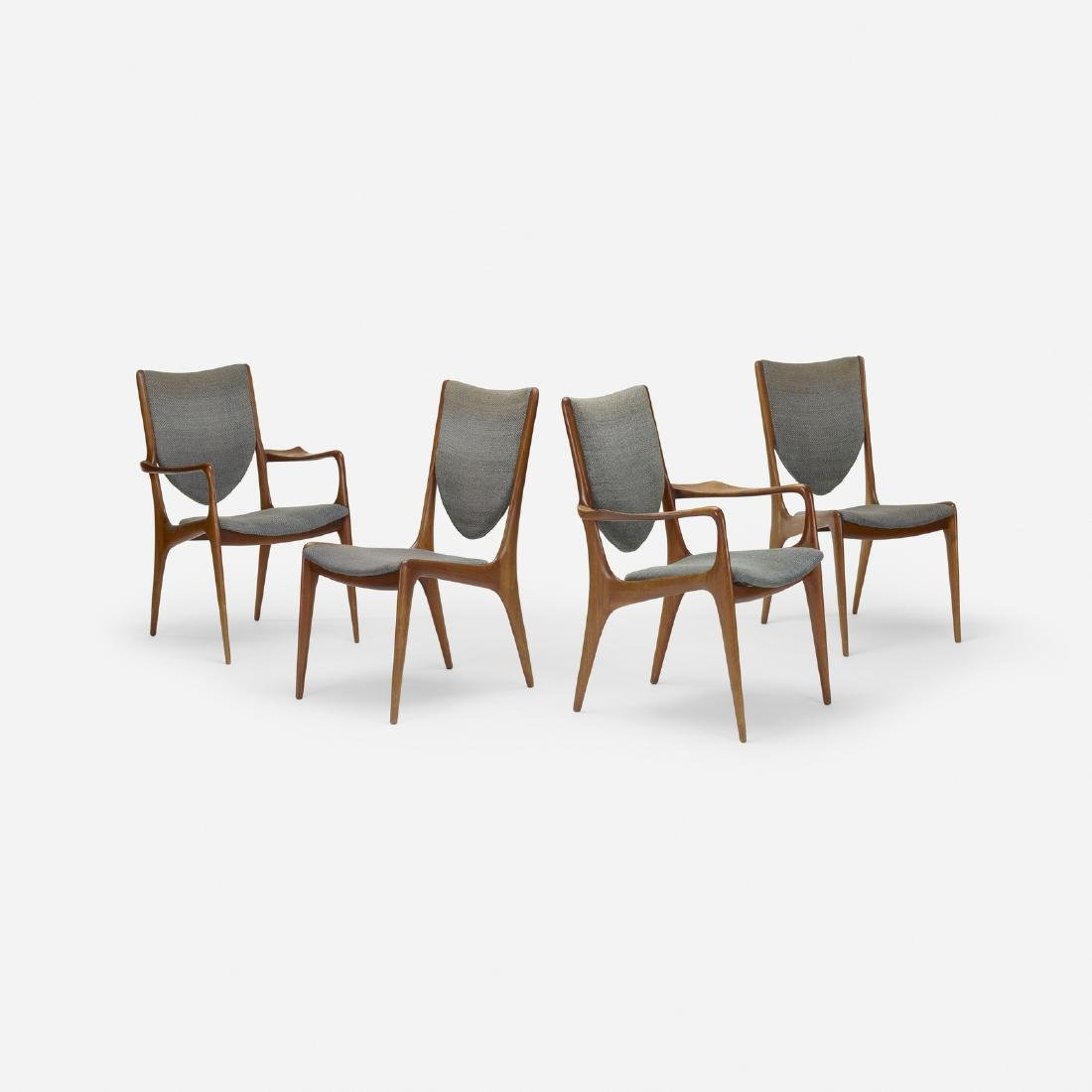 Vladimir Kagan, Shield Back dining chairs, set of four