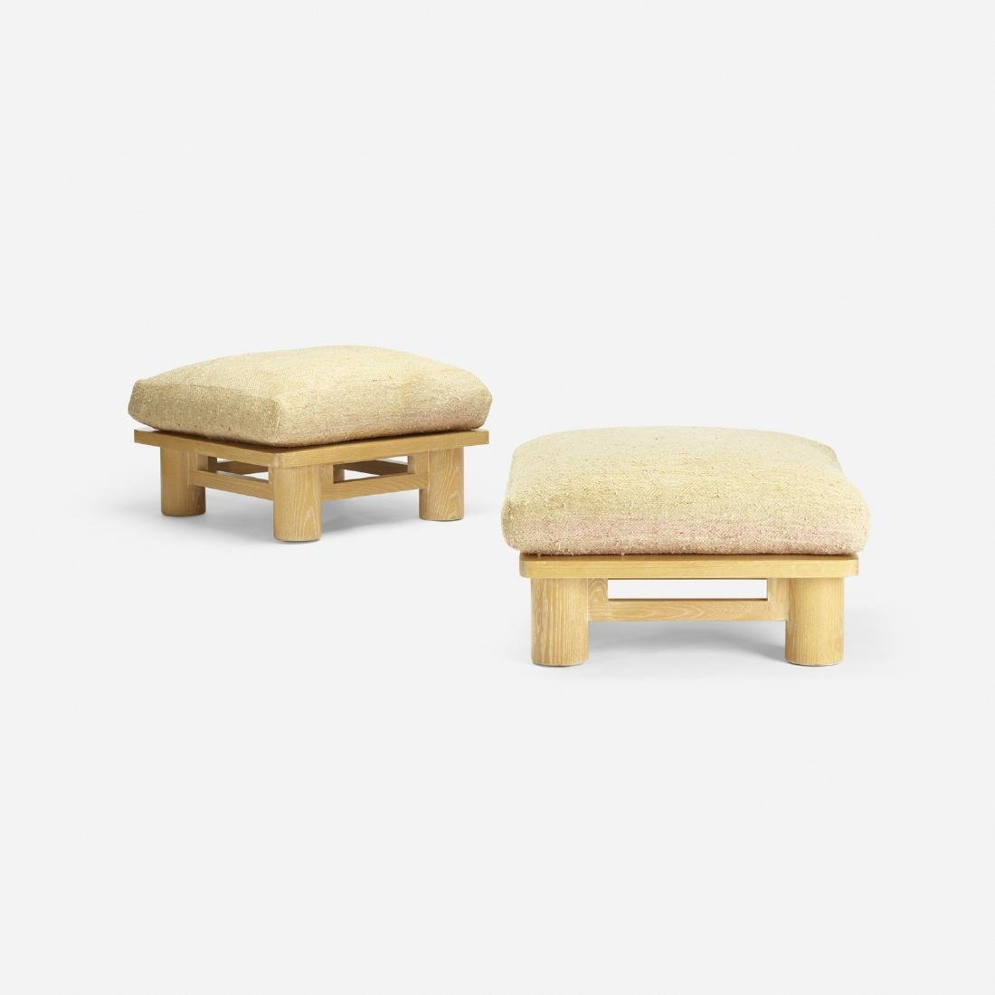 Karl Springer, Dowelwood ottomans, pair