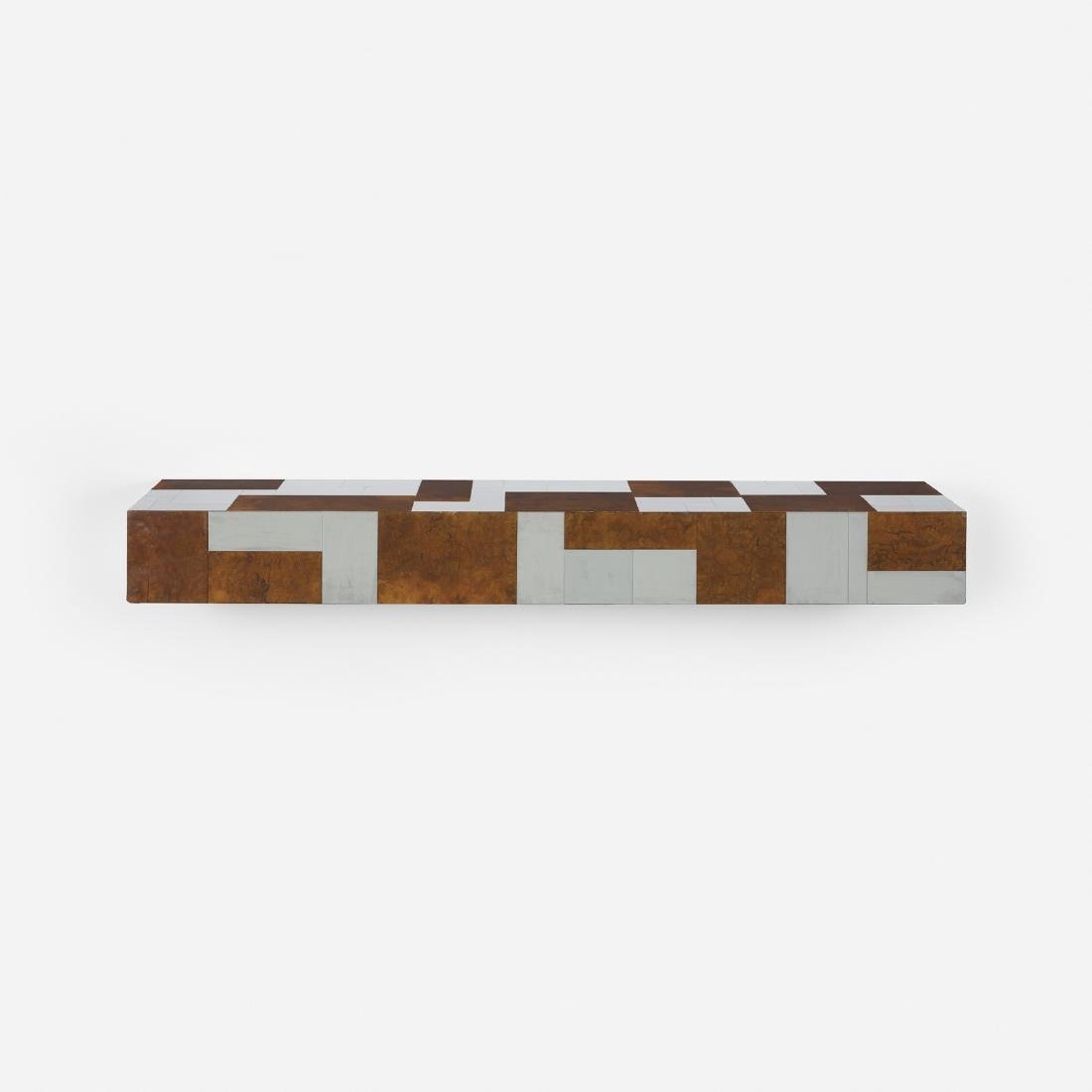 Paul Evans, wall-mounted Cityscape shelf, PE 400
