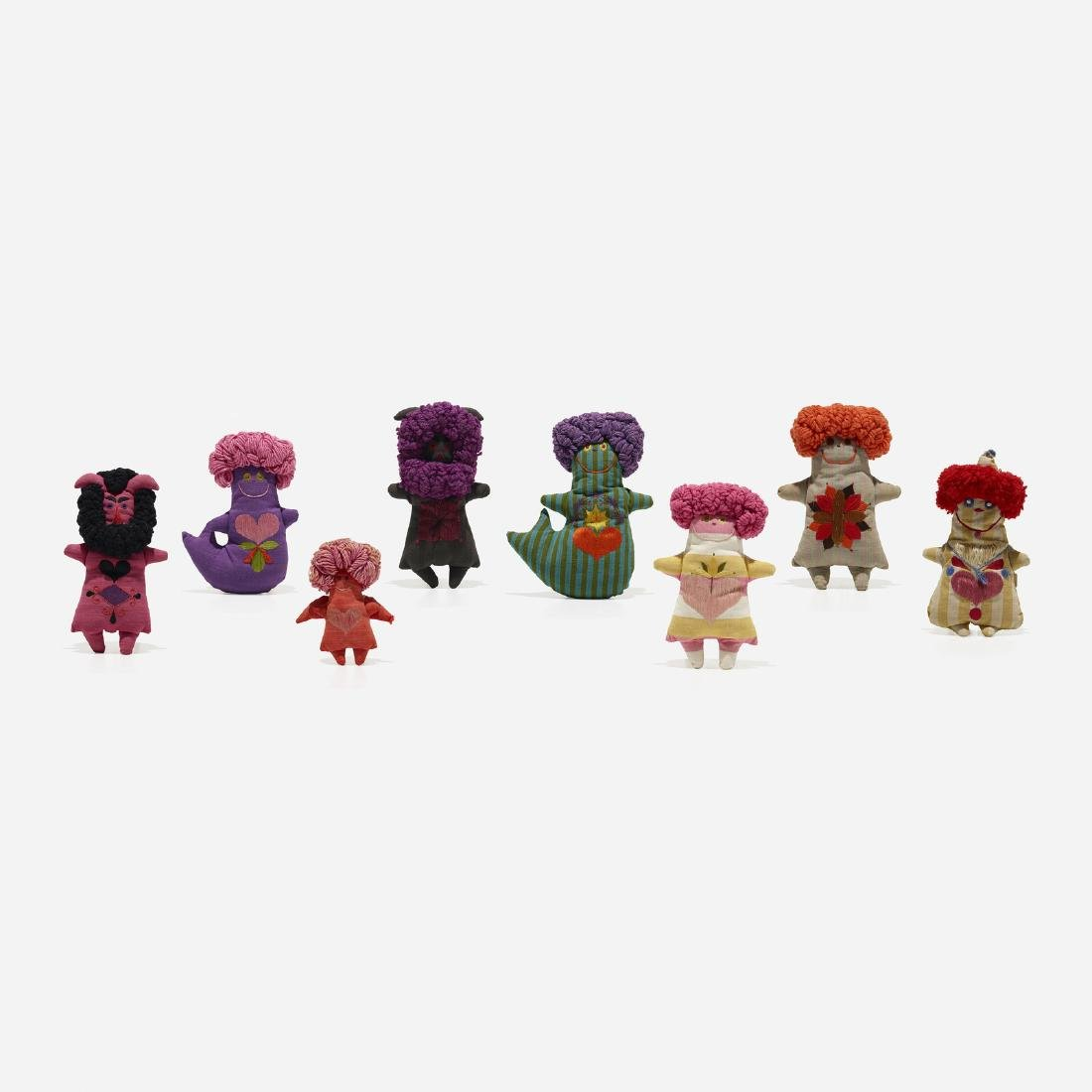 Marilyn Neuhart, collection of eight dolls