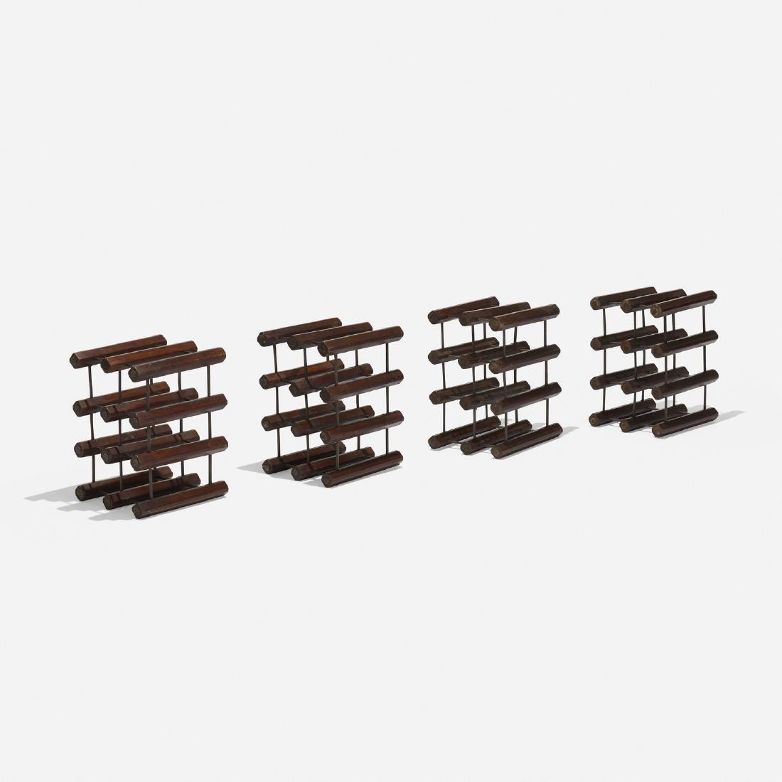 American, wine racks, set of four