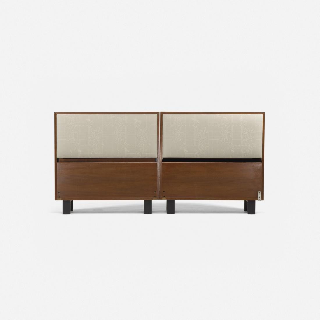 George Nelson & Associates, twin-sized headboards 4646 - 2