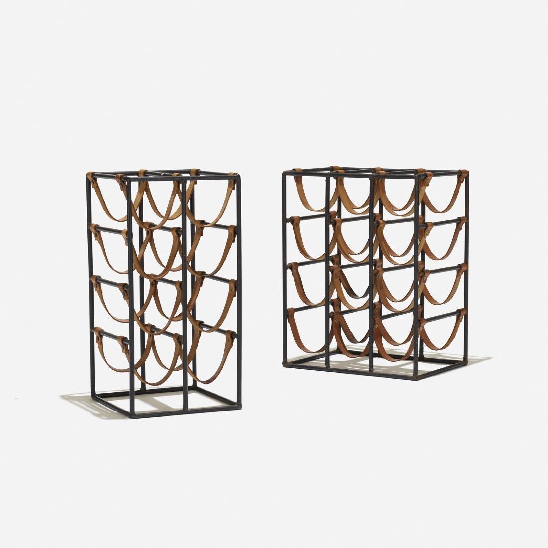 Arthur Umanoff, wine racks, set of two
