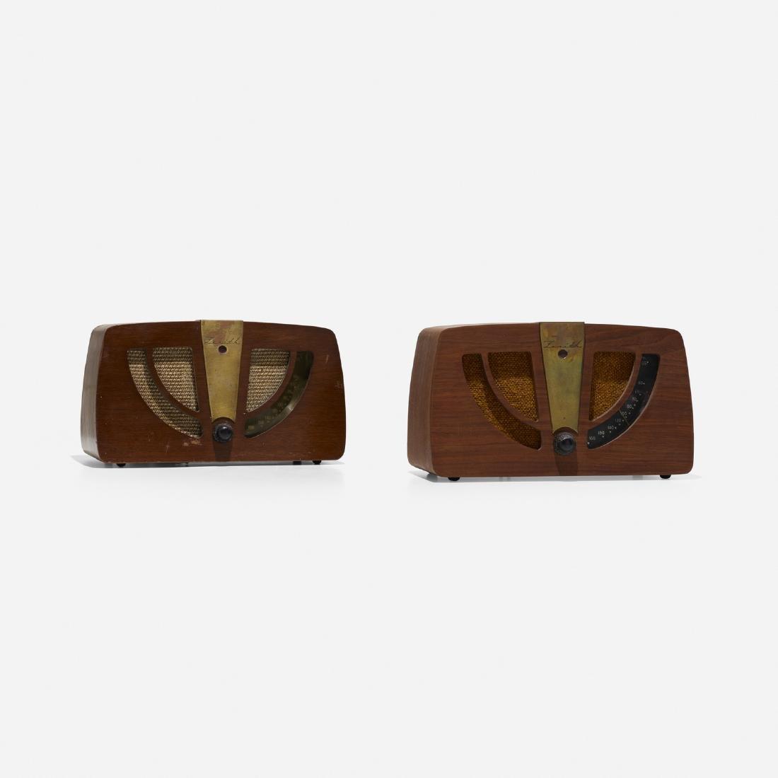 Charles and Ray Eames, radios model 6D030, pair