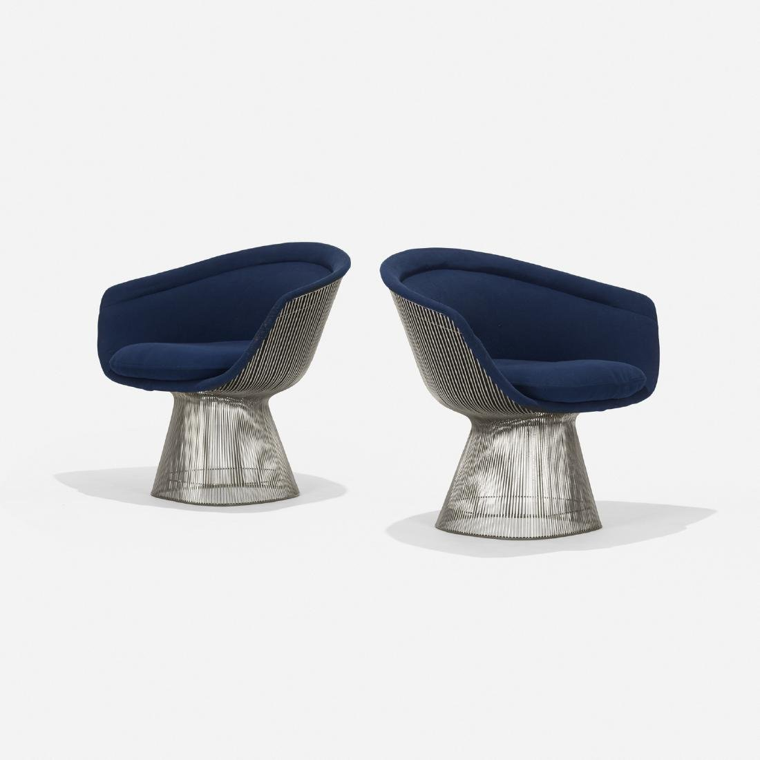 Warren Platner, lounge chairs, pair