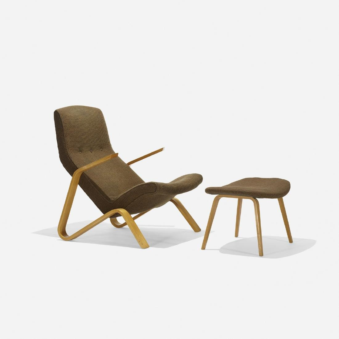 Eero Saarinen, Grasshopper chair and ottoman