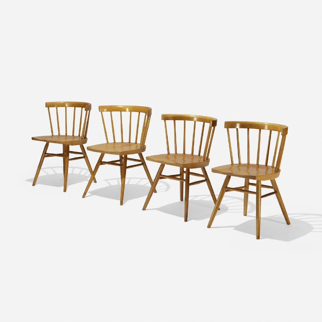 George Nakashima, dining chairs model N19, set of four
