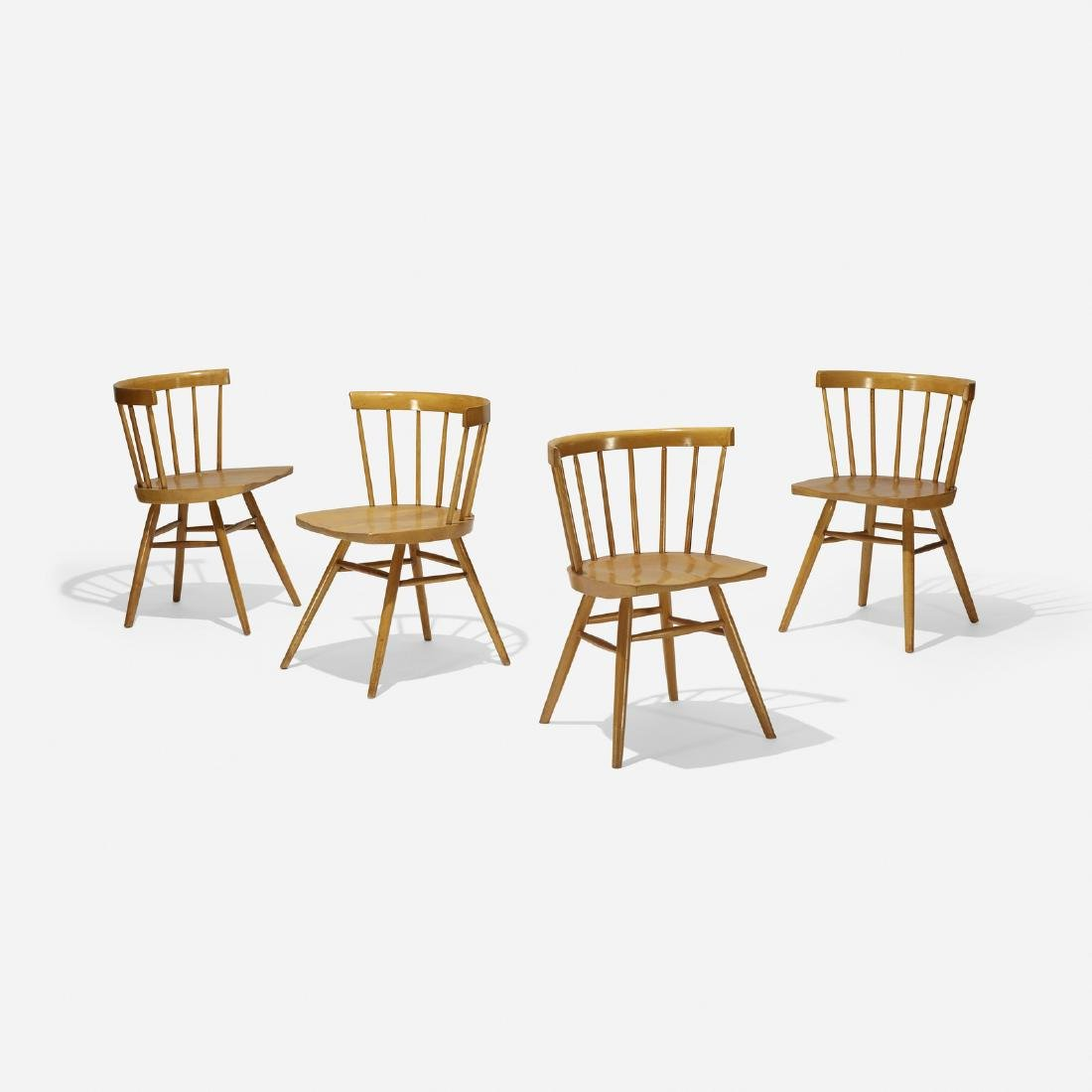 George Nakashima, dining chairs model N19, set of four - 2