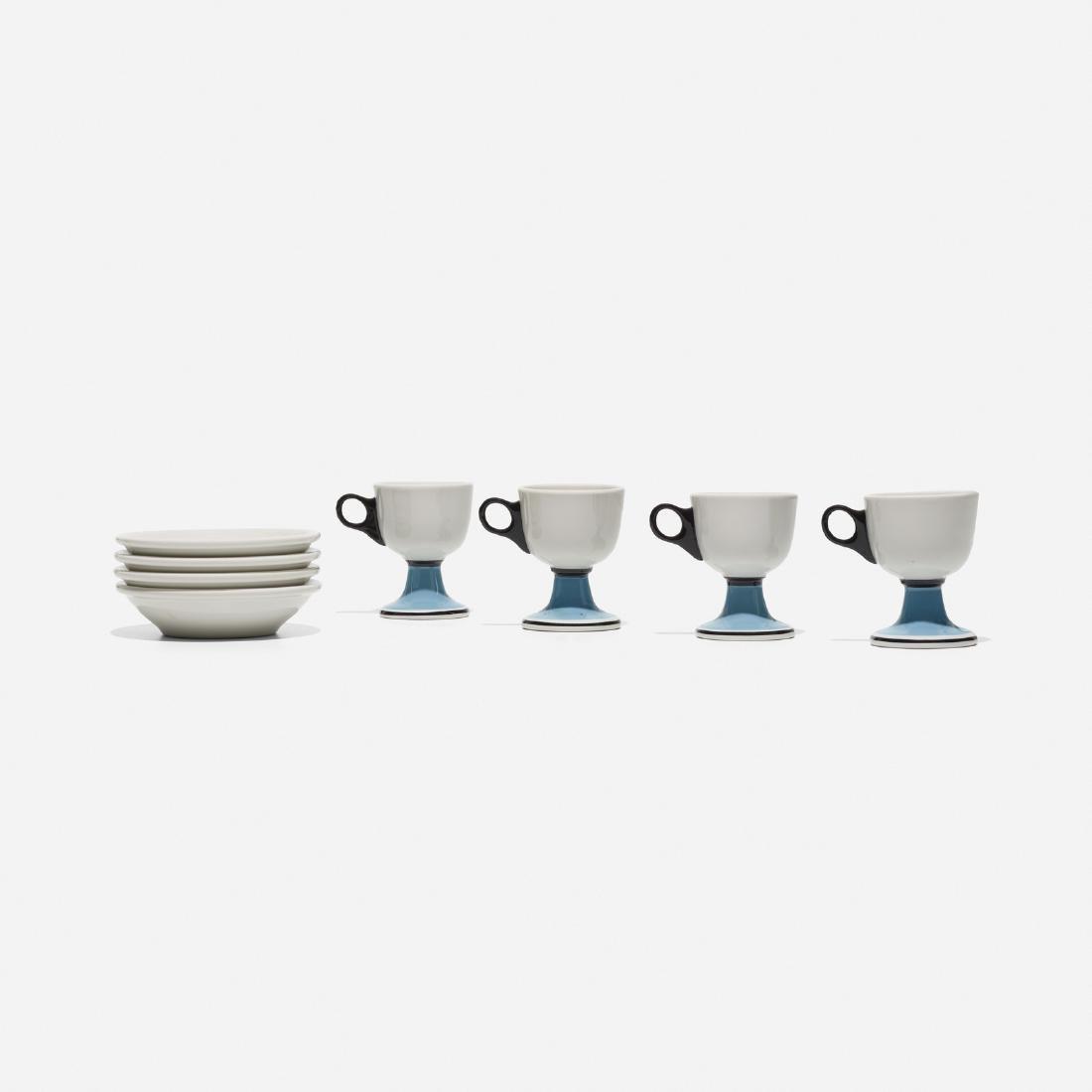 Girard, 4 cups and saucers, La Fonda del Sol