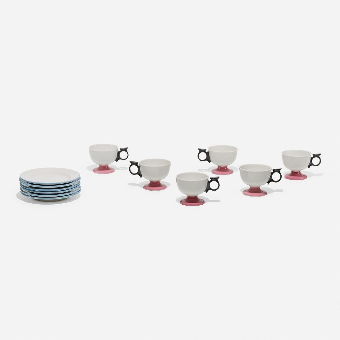 Girard, 6 cups and dessert plates, La Fonda del Sol