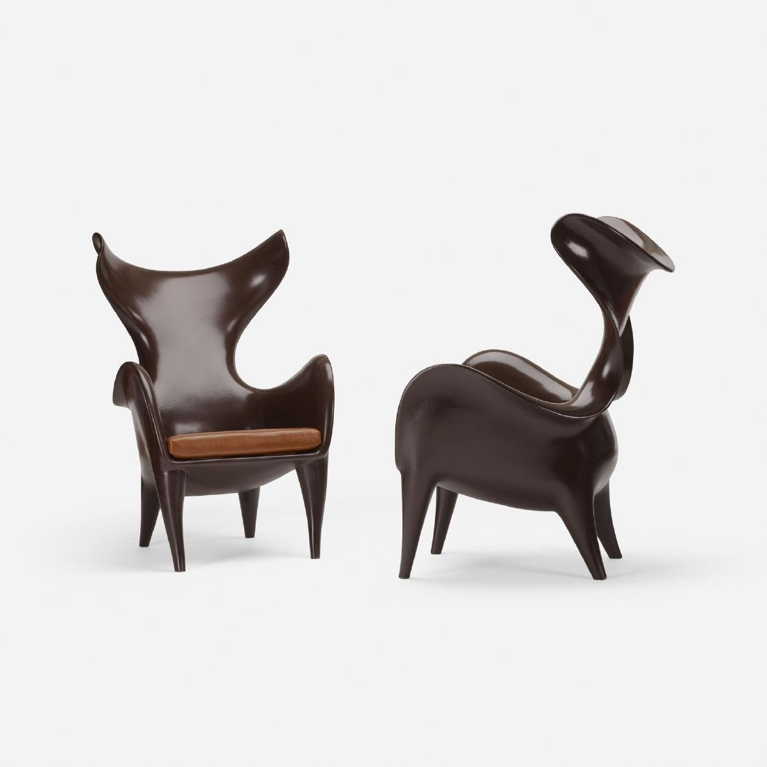 Jordan Mozer, Frankie goes to Houston chairs, pair - 2