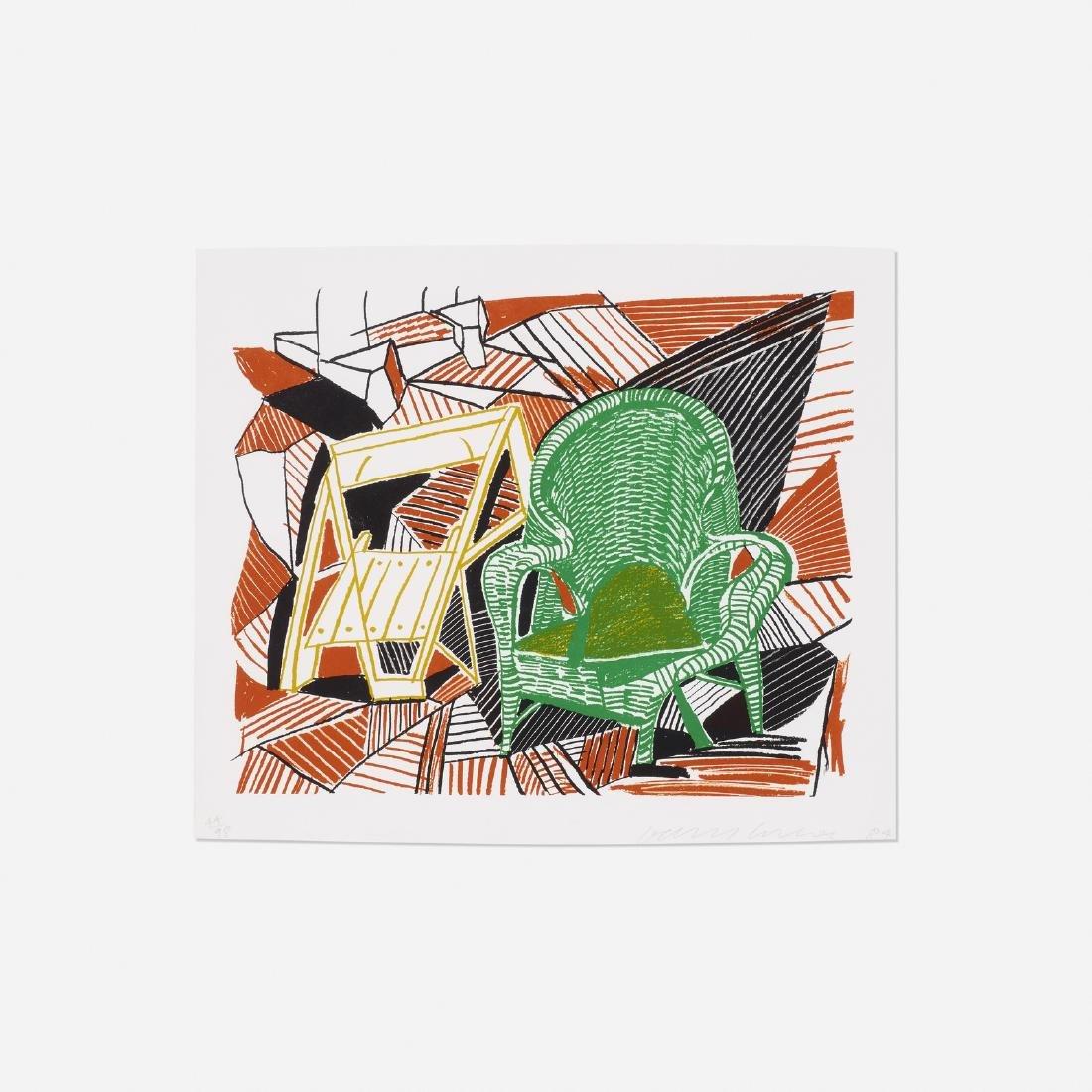 David Hockney, Two Pembroke Studio Chairs, Moving Focus