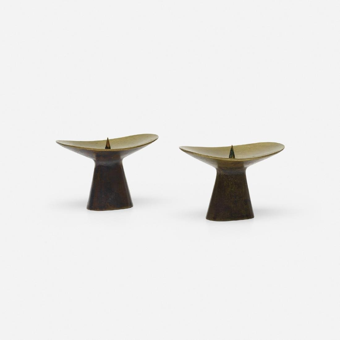 Carl Aubock II, candlesticks, pair