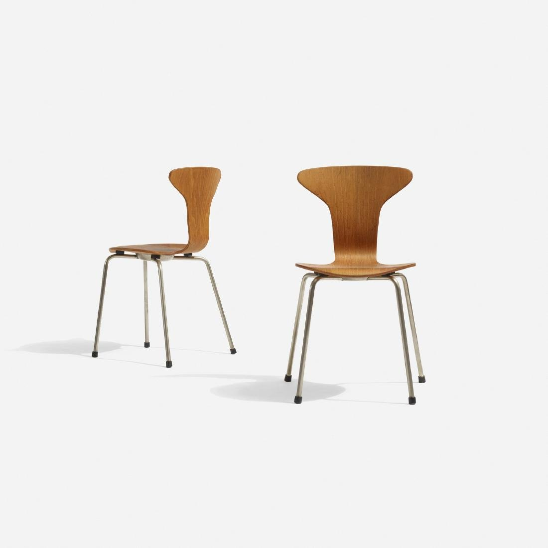 Arne Jacobsen, pair of child's chairs, Munkegaard