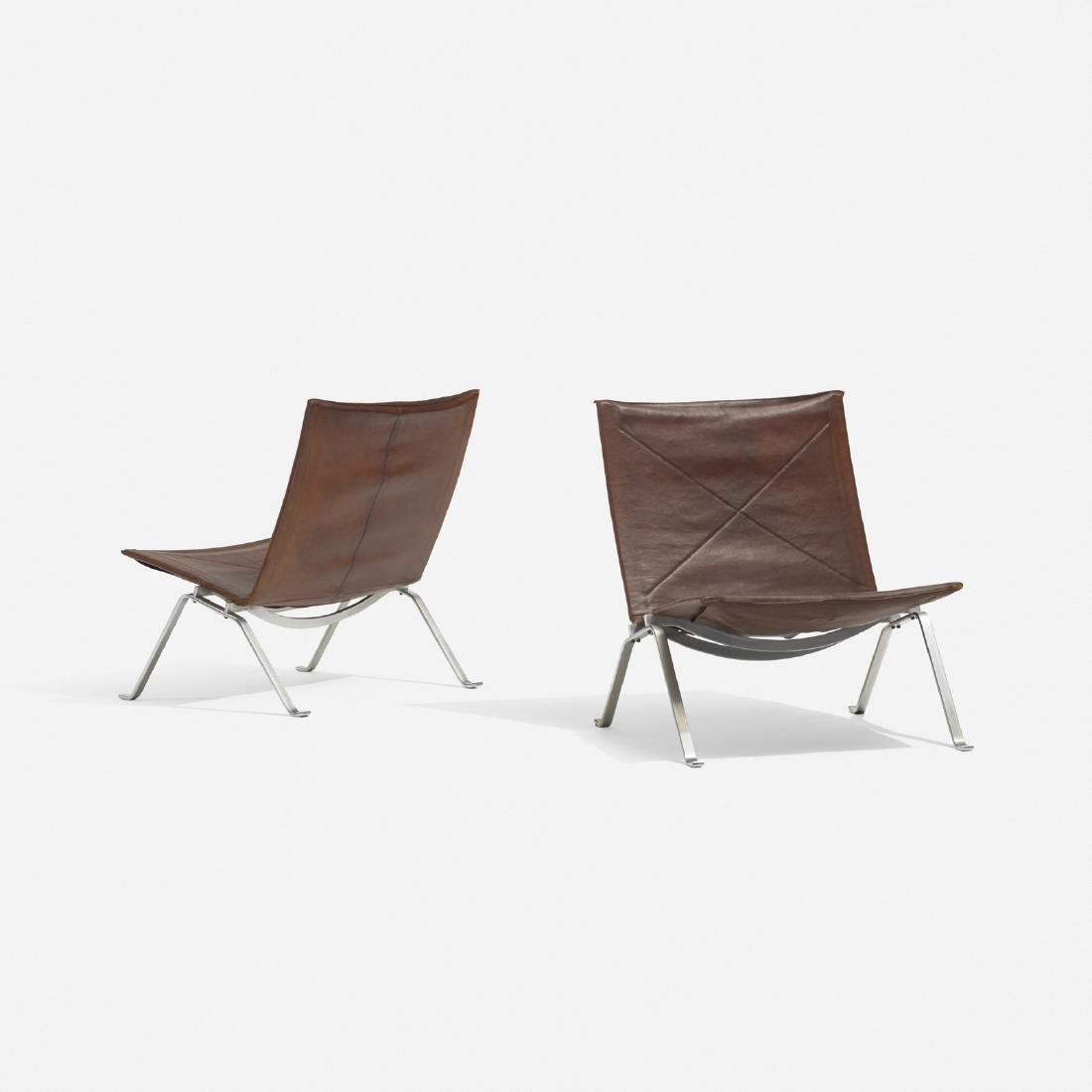 Poul Kjaerholm, PK 22 lounge chairs, pair