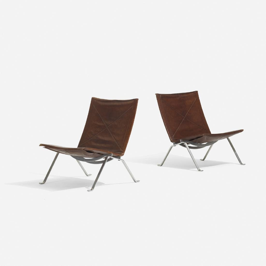 Poul Kjaerholm, PK 22 lounge chairs, pair - 2